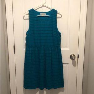 Teal eyelet dress from Loft